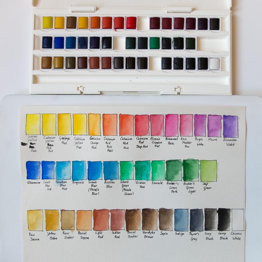 Kleurenkaart Cotman