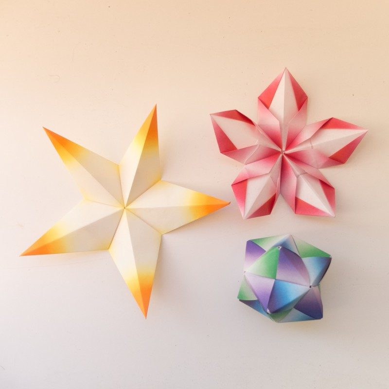 Star, flower and octahedron