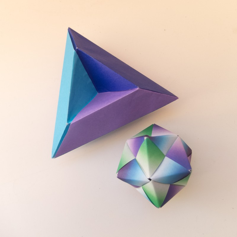 Triangle and octahedron