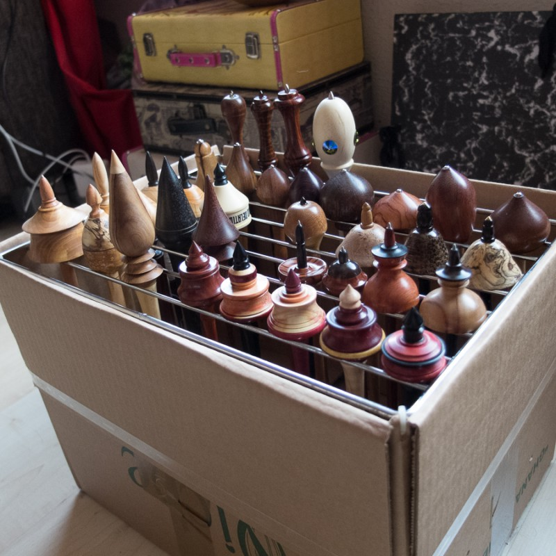 My old spindle storage solution