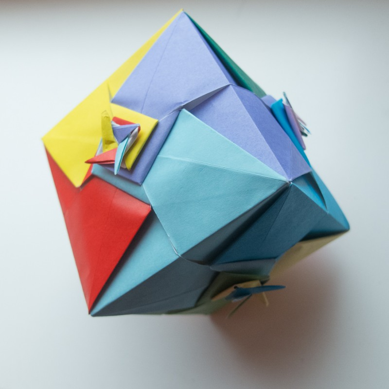 Cube with spirals by Ekaterina Lukasheva