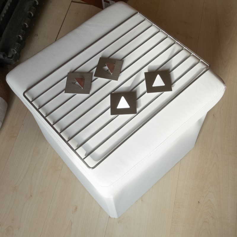 Box, grate, and mounting brackets