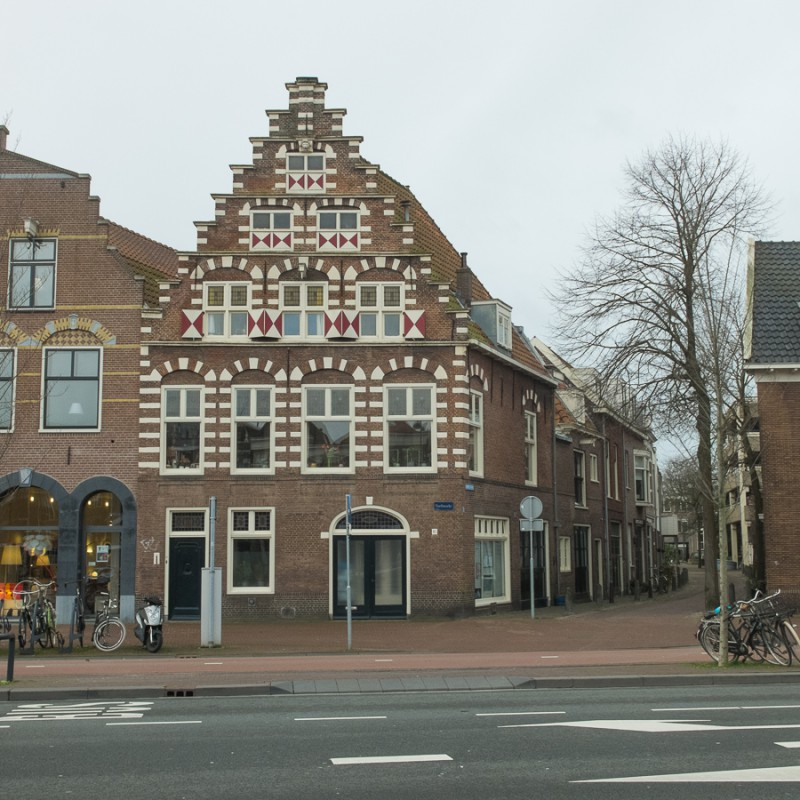 Typical Dutch house with blinds