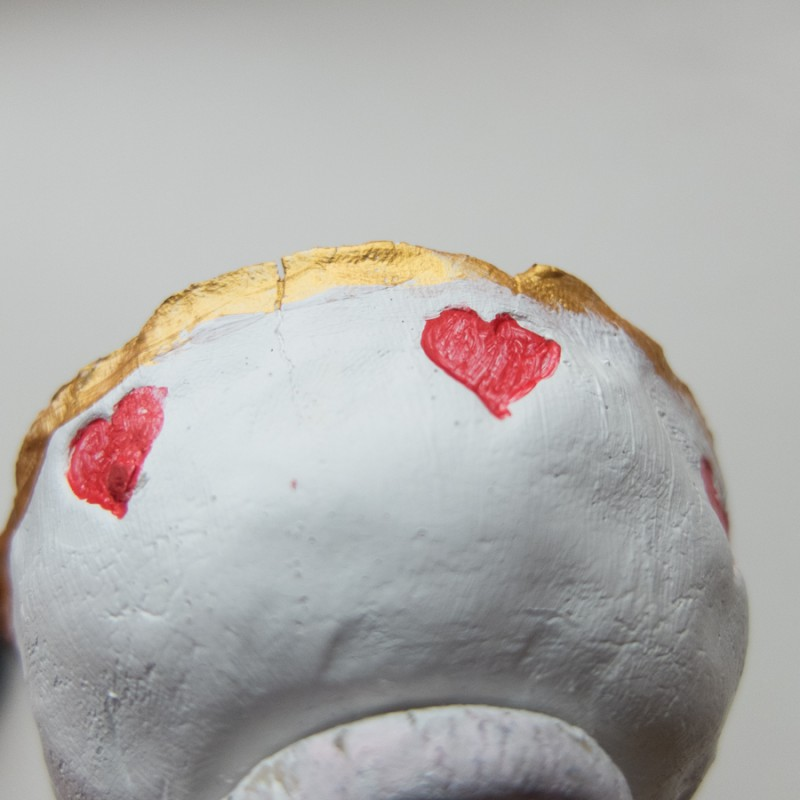 The hearts didn't work out as planned - the paint is too thin!