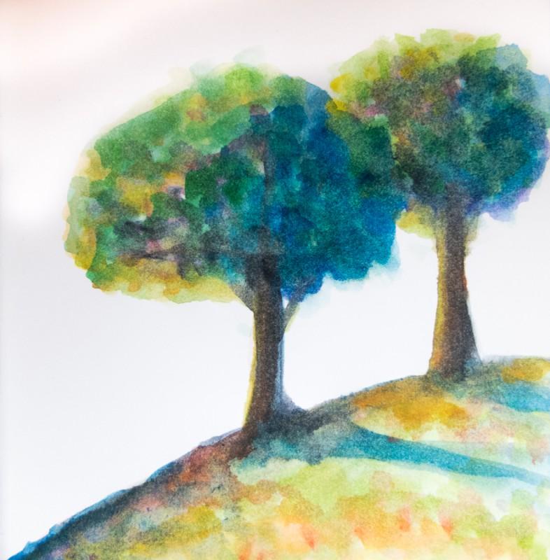 Two Trees (15 x 15 cm)