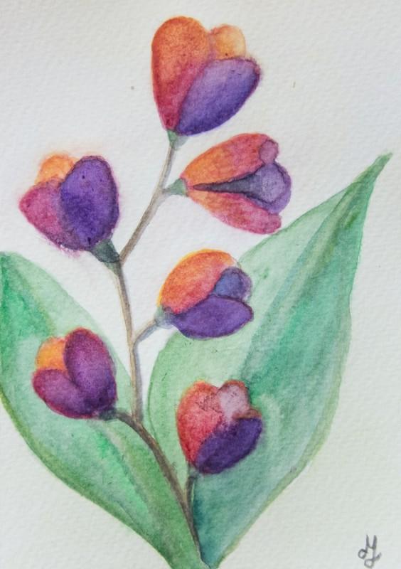 Imagined flower (10 x 15 cm postcard)