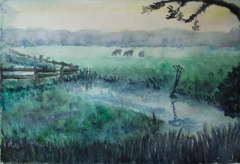 Foggy meadow (A4)