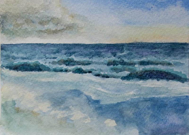 Seascape (10 x 15 cm postcard)