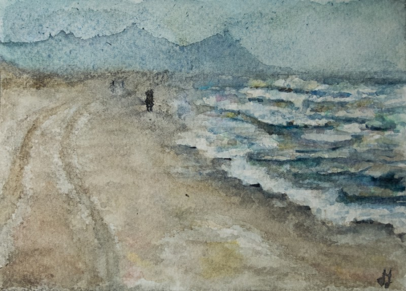 Stormy sea (10 x 15 cm postcard)