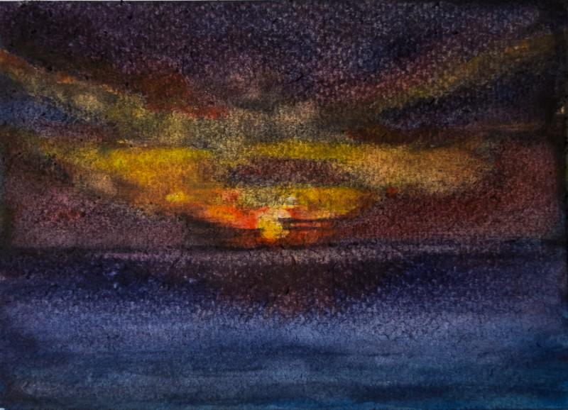 Sunset (10 x 15 cm postcard)