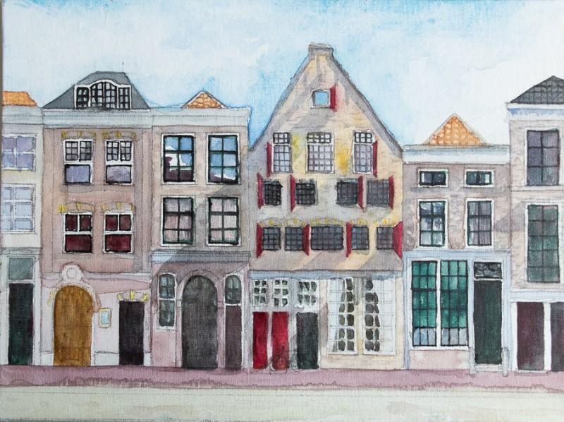 Delft houses (18 x 24 cm)