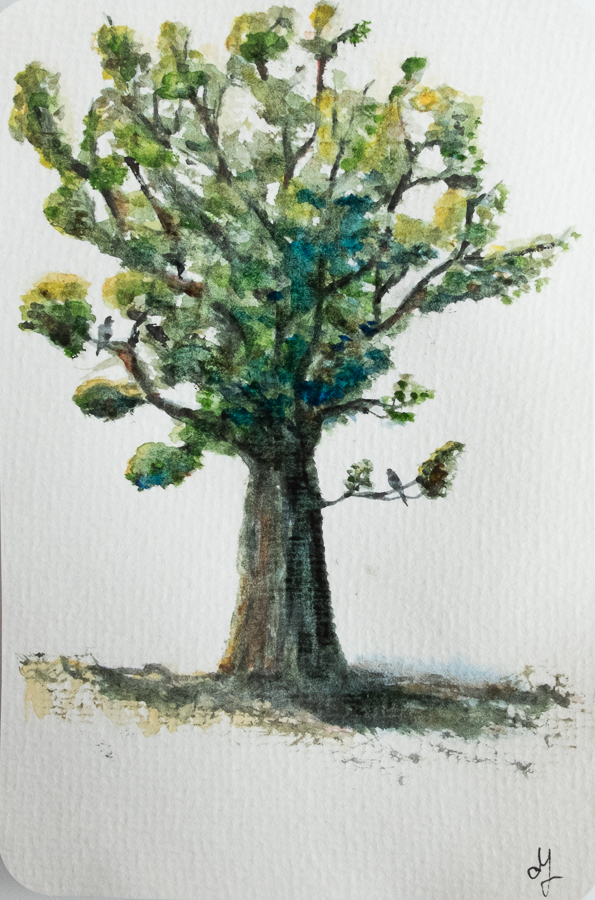 Painting a tree
