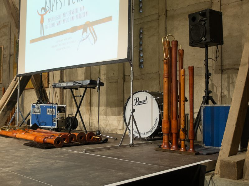 Some of the instruments from the Royal Wind Music
