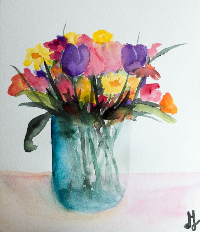 Bouquet (Fabriano paper)