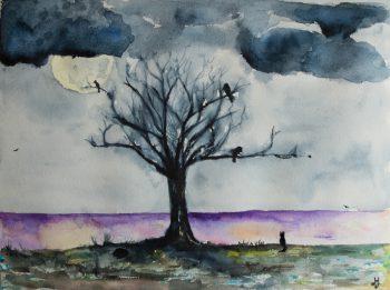 Moonlit night (Fabriano paper)