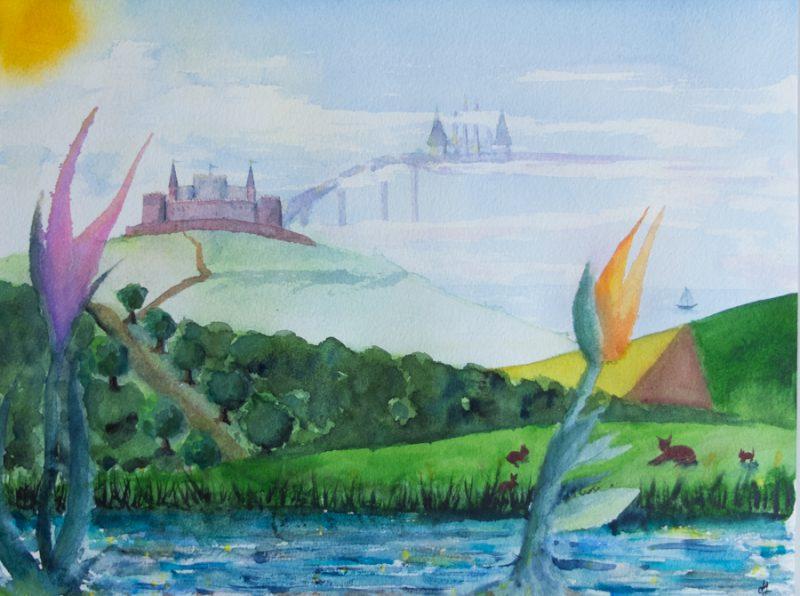 Dreamscape (22x29cm Fabriano paper)