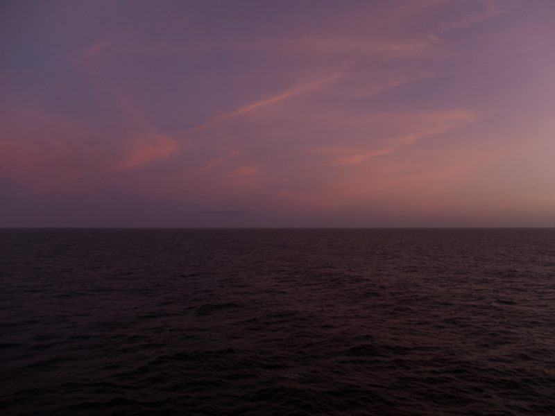 View from the ferry just after sunset