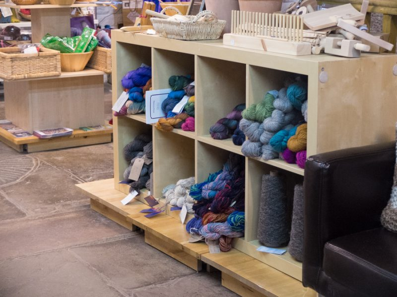 Hand-dyed yarn from the local Indie dyers