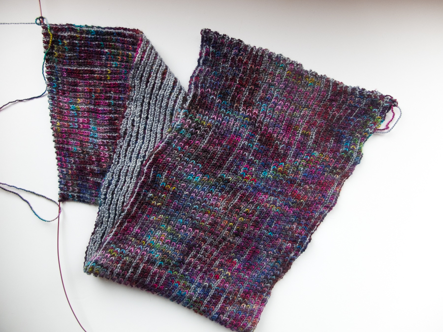 Knitting lace and brioche