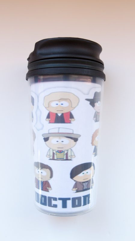 Dr Who/South Park mug