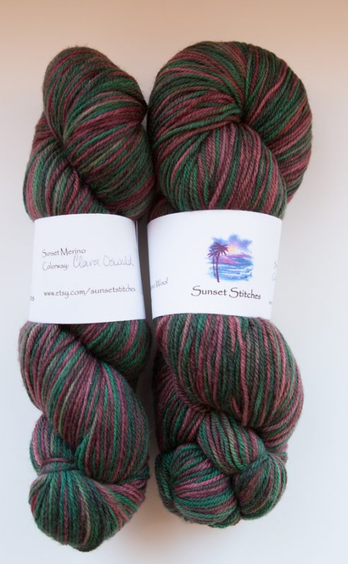 Two pretty skeins of sock yarn