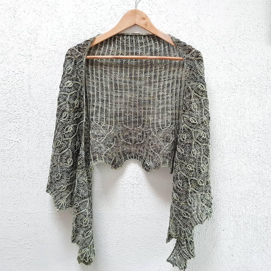 Winter birch shawl