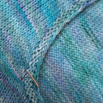Close up of the Elphaba pullover neckline