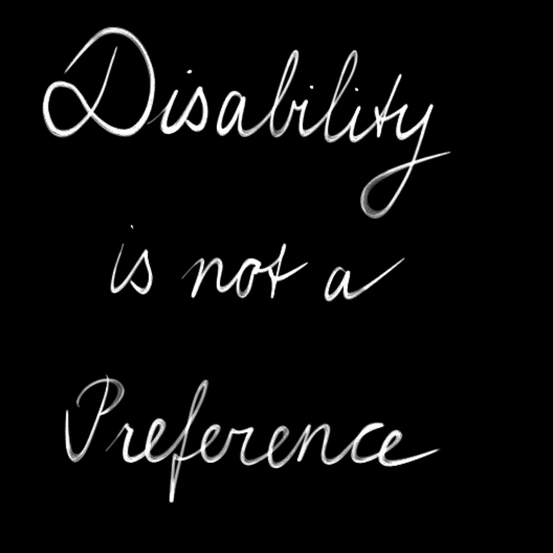 Disability is not a preference